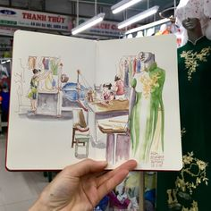 Tailor's market in Danang, Vietnam Danang Vietnam, Da Nang, Sketches, Urban, Drawings, Doodles, Sketch, Tekenen, Sketching