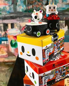 Adios /& Ciao Ciao Maki Machine Tokidoki Sushi Car 3-Inch Vinyl Figure