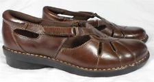CLARKS Women's Brown Bendables Loafer Oxford Shoes Leather Size 8 M