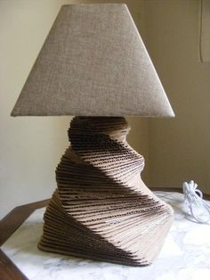Recycled Cardboard Lamp