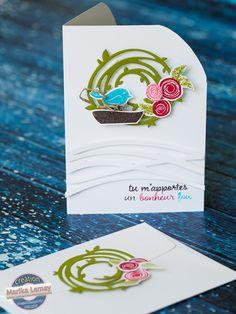 swirly bird card stampinup