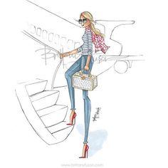 Her next stop: NYC #NYFW #fashionweekdiary [Instagram @brittanyfuson]