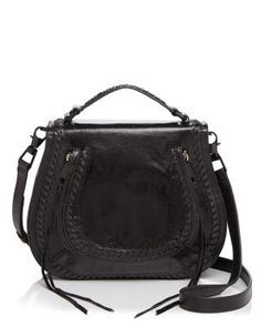 REBECCA MINKOFF Vanity Distressed Saddle Bag. #rebeccaminkoff #bags #shoulder bags #hand bags #leather #crossbody #