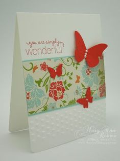Here is another cute and relatively simple card that inspires me to go and make some like it.
