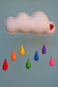 Cloud Mobile with raindrops - by MilbotandChooky on madeit