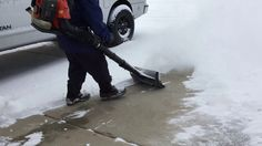 AIR JET SHOVEL with POWERFUL BACKPACK LEAF BLOWER Shoveling Snow, Landscape Maintenance, Leaf Blower, Jet, Backpack, How To Remove, Ice Rink, Decks, Tools