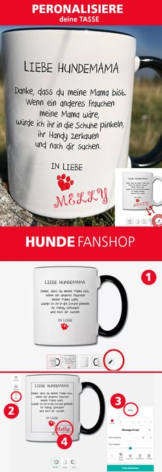 Dear dog mom, thank you for being my mom, if another woman were my mom, I would pee on her shoes, chew her cell phone. Dog Tumblr, Halloween Mason Jars, Sharpie Crafts, Diy Crafts To Do, Dog Logo, Love Dogs, Personalized Cups, Mom Mug, Dog Quotes