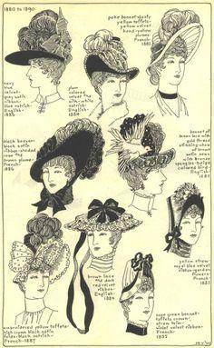 Victorian Hats (1880-90). Babingtons loves Victorian Style. www.babingtons.com