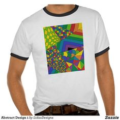 Abstract Design 1 Men's Basic Ringer T-Shirt #cool #abstract #colourful #colour #art #geometric #illustration #unique #custom #original #creative #design #tshirts