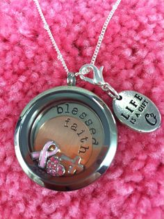Breast Cancer Awareness Locket. Visit www.susiekellybentley.origamiowl.com to get yours! Makes great gifts