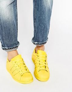 Image 1 -Adidas Originals Pharrell Williams supercolour Bright Yellow Trainers