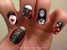 Casino Nails Vegas Nail Art, Las Vegas Nails, Love Nails, Fun Nails, Make Up Art, How To Make, Special Nails, Beauty Tips For Hair, Beautiful Nail Art
