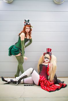 Steampunk Poison Ivy & Harley Quinn by Mike Rollerson, via Flickr