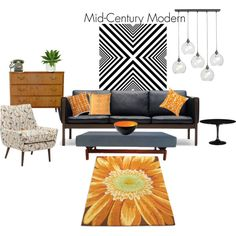"""""""Mid - Century decor"""" by grafic-703 on Polyvore"""