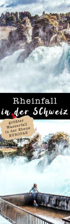 Rheinfall in der Schweiz // Tagestrip als Überraschung. auf VANILLAHOLICA.com Oftmals sind schöne Tagesflüge und Wochenendtrips auch ganz nah. An der Grenze zur Schweiz findet man den Rheinfall, den größten Wasserfall Europas in der Ebene. Atemberaubende Natur und Landschaft, die man da vor der Haustüre findet.