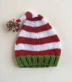 fb81cc6057bad Items similar to Santa Hat on Etsy. Baby Christmas HatBaby Santa  HatChristmas Knitting PatternsBaby Knitting PatternsBaby Hats  KnittingCrochet ...
