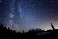 Spectacular View of the Milky Way From Mount Rainier