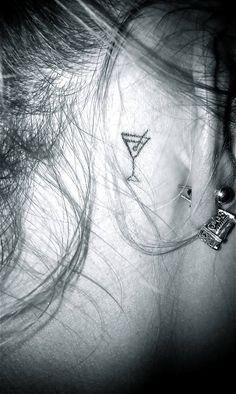 Tattoo ear martini glass