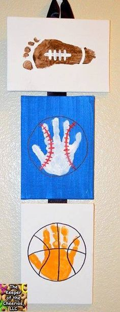 Sports footprints & handprints