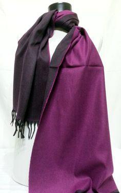 Purple and Black Cashmiren Men's Scarf Purple and by PeraTime #handmadeatamazon #nazodesign