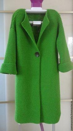 Кофты и свитера ручной работы. Ярмарка Мастеров - ручная работа. Купить Вязаный кардиган GREEN. Handmade. Зеленый, кардиган спицами