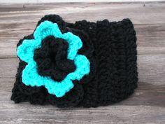 Crochet Headband / Ear Warmer with Crocheted Flower