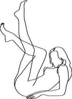 wire mural propasal drawing of nude girl