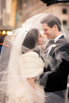 love the fur for a winter bride