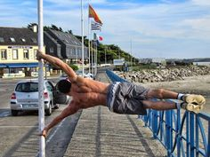 These are some of the more advanced calisthenics exercises that I aim to achieve in Front Lever Planche Muscle Up Human Flag Pole Dance Moves, Pole Dancing, Parkour Gym, Fitness Goals, Fitness Motivation, Calisthenics Training, Human Flag, New Year Goals, Body Weight Training