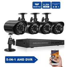 4CH 1080P Hybrid DVR 5-in-1 Digital Video Recorder 4pcs 720P Outdoor/Indoor Weatherproof Infrared Bullet Camera 4CH CCTV Kit  Price: 108.00 & FREE Shipping  #tech|#electronics|#gadgets|#lifestyle Cctv Kits, Digital Video Recorder, Cctv Surveillance, Bullet Camera, Natural Disasters, Linux, Indoor Outdoor, Electronics Gadgets