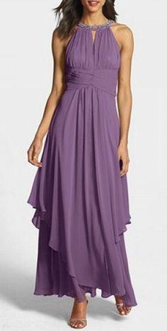 lavender chiffon gown