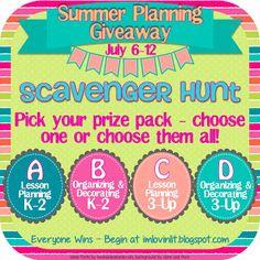 Summer Planning Scavenger Hunt! Everybody Wins!
