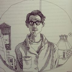 """R. Crumb, self-portrait at age twenty-two, 1965. """"I used myself as a character in the introductory page of the first few issues of Zap Comix, showed myself in a wacky cartoon, R. Crumb, the cartoonist."""""""