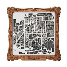 """Look what I found at UncommonGoods: """"you are here"""" map..."""