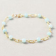 Amazonite Bracelet, Aqua Bracelet, Mint Summer Bracelet, Handmade