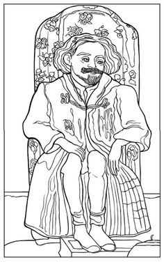 Color Your Own Cézanne Paintings Coloring Book, Dover Publications