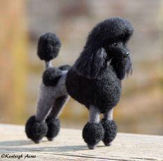 Needle felted poodle by Shannon Phifer