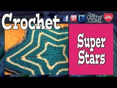 How To Crochet A Super Star Baby Afghan. Mikey's video makes the instructions clear.  I have made two of these in bright rainbow colors.  I love the pattern!