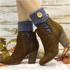 Aspen Boot Cuffs - vintage blue #kneehighboots