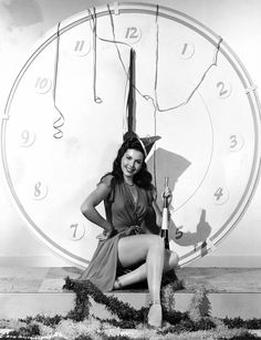 ann miller wishes you a happy new year golden age of hollywood vintage