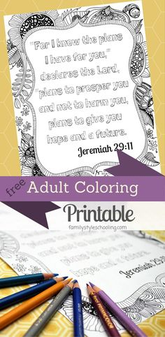 Adult Coloring Printable Jeremiah 2911 Davlin Publishing Adultcoloring