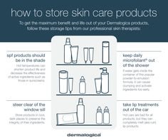 Ways to store your Dermalogica skin care products www.macquariemedi… Ways to store your Dermalogica skin care products www. Dermalogica, Skin Tips, Spring Cleaning, Facebook Sign Up, Your Skin, The Cure, Skin Care, How To Get, Store