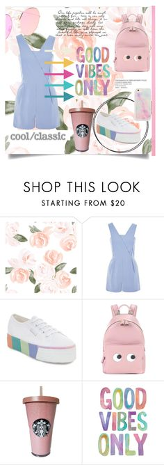 """""""Untitled #124"""" by aluin ❤ liked on Polyvore featuring Topshop, Superga and Anya Hindmarch"""