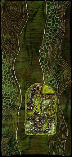 How+Green+Was+My+Valley by Larkin Jean Van Horn Beaded quilt