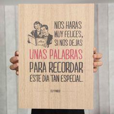 Image of Lámina de madera - Déjanos unas palabras en www.mrwonderfulshop.es