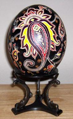 Paisley Ukrainian Easter Egg - Ostrich