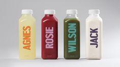 Bunch Juice by DIA, via Behance