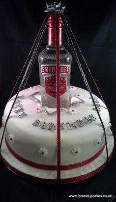 Tito S Vodka Bottle Alcohol Cake Birthday Birthday Cake Vodka, 21st Birthday Cakes, 19th Birthday, Funny Birthday, Birthday Ideas, Happy Birthday, Alcohol Cake, Vodka Alcohol, 18th Cake