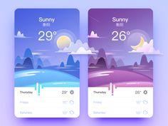 "Weather app inspiration - - via Muzli design inspiration. ""Weather app inspiration"" is published by Muzli in Muzli - Design Inspiration. Ux Design, Module Design, Design Page, Design Blog, Portfolio Design, Flat Design, Mobile Ui Design, Dashboard Design, Dashboard App"