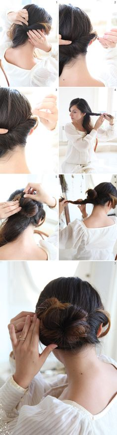 Wedding Chignon. Easy, cute and simple <3